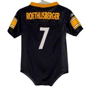 NFL Steelers Roethlisberger Onesie Jersey